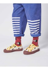 Bobo Choses Maroon Doggie All Over long socks