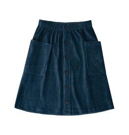 CarlijnQ Corduroy Teal - midi skirt