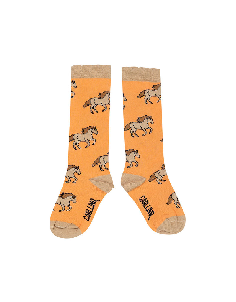 CarlijnQ Knee socks - wild horses ruffled