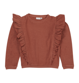 Blossom Kids Volant sweater - Deep Coral