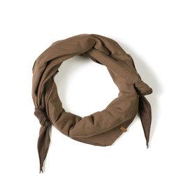 Nixnut Triangle scarf Stripe Toffee one size