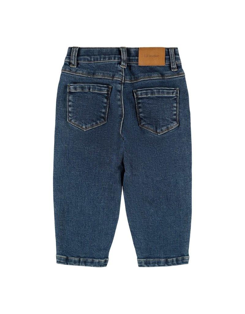 Lil' Atelier Bibi Denim Shape Pants
