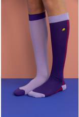 Sticky Lemon Knee high socks -colourblocking- lobby purple + moustafa purple