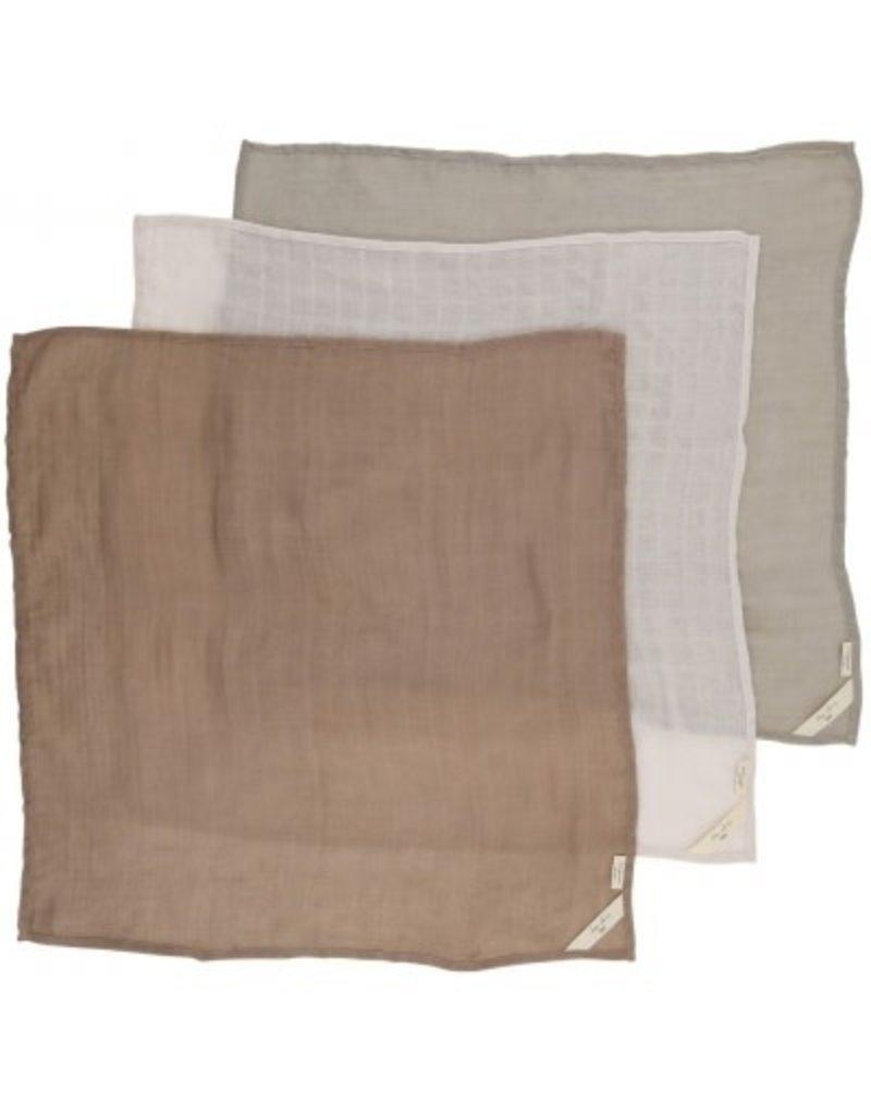 Konges Sløjd 3 Pack Muslin Cloths Rose Dust