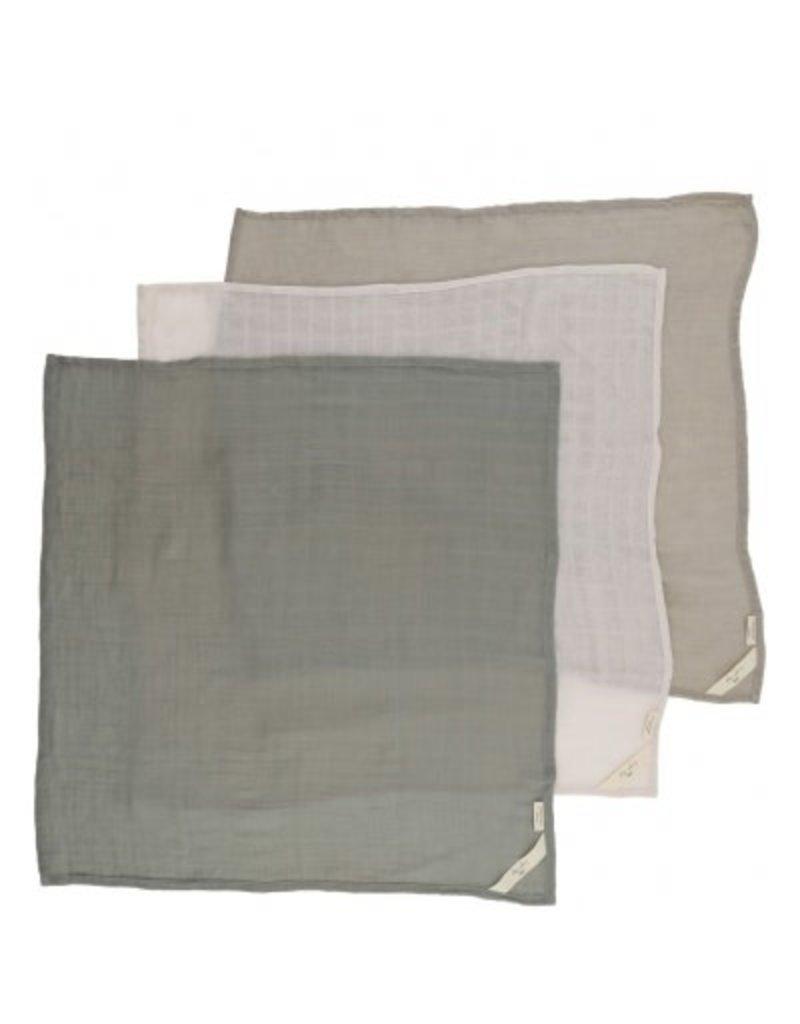 Konges Sløjd 3 Pack Muslin Cloths Lime Stone