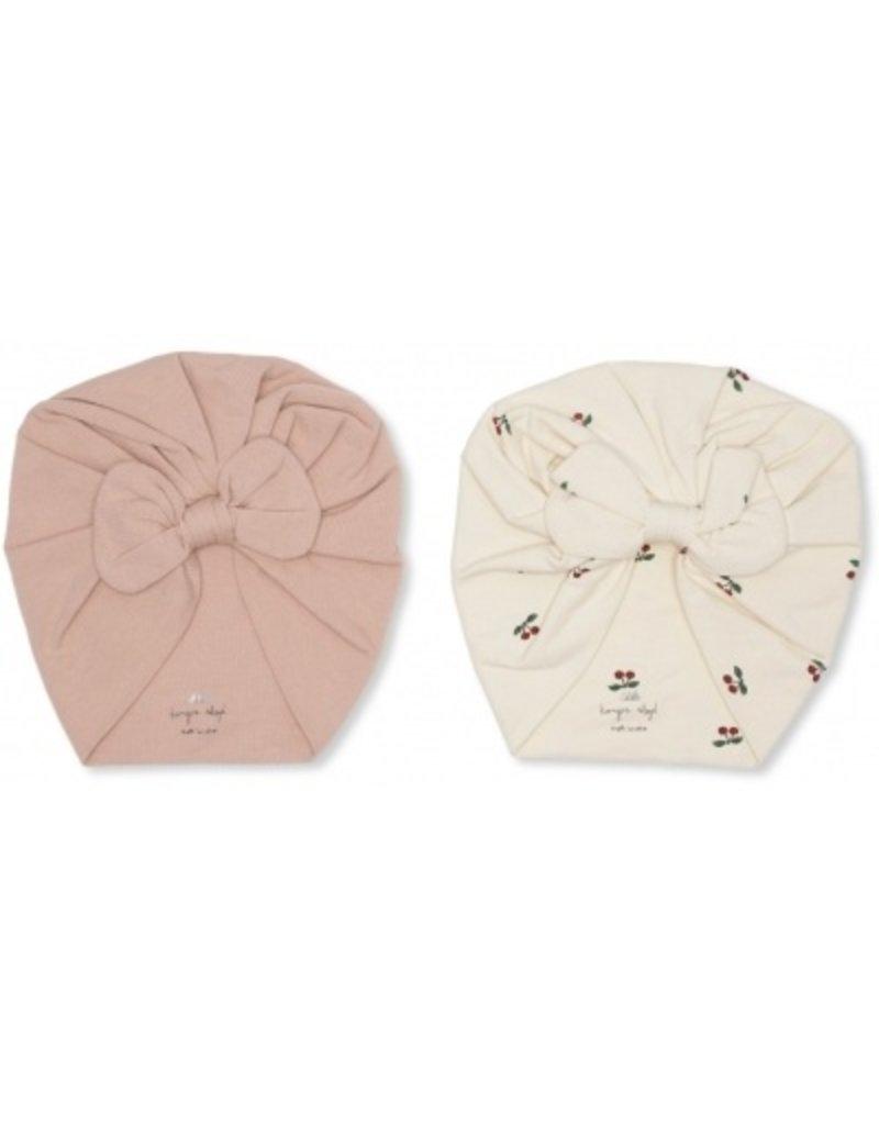 Konges Sløjd 2 Pack Bambi Bonnet 3-6M Cherry/Rugby Tan