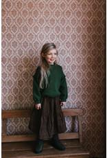 Petit Blush Midi Lewis Frill Skirt Brown Leopard