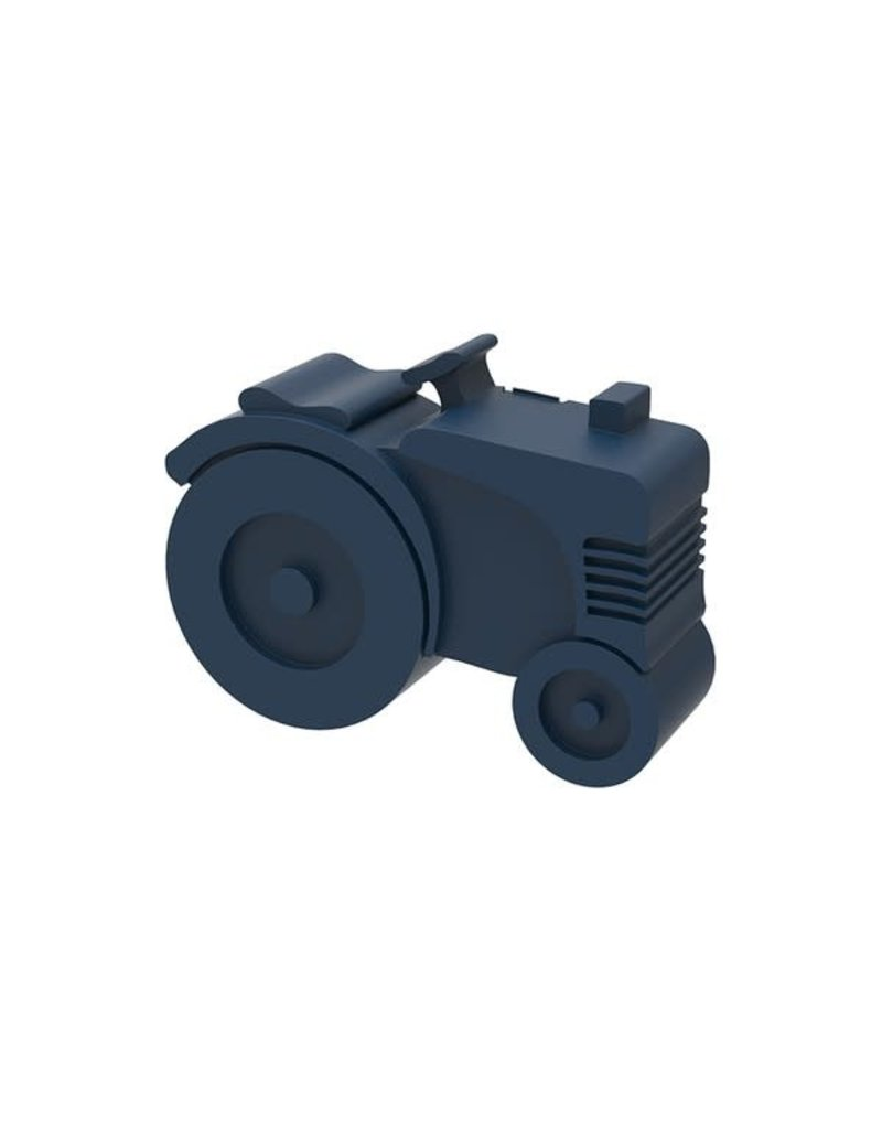 Blafre Lunch box 2 compartimenten tractor navy