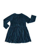 CarlijnQ Corduroy Teal - dress wt 3 buttons