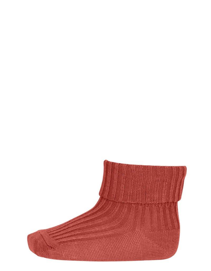 mp Denmark Cotton Rib Baby Socks Canyon Rose 831