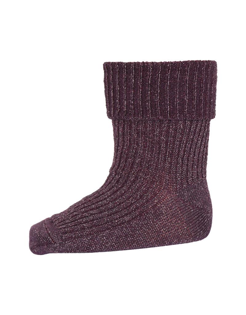 mp Denmark Ida Glitter Socks Dark Grape 180