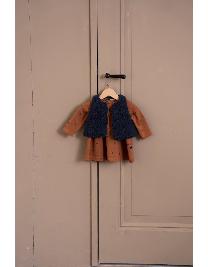 House of Jamie Baby Doll Dress Ginger Bread Dots