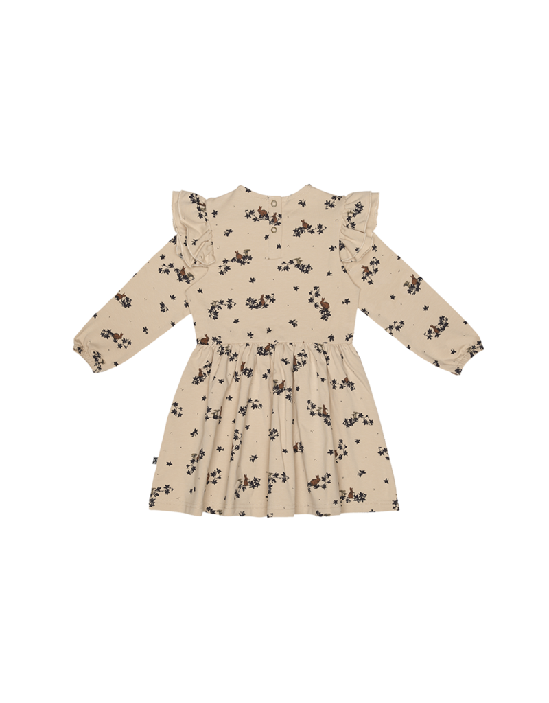 House of Jamie Girls Dress Oatmeal Forest