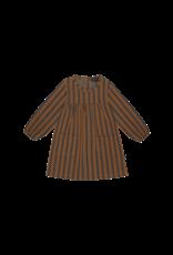 House of Jamie Pocket Dress Ginger Bread & Granite Stripes