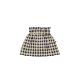 House of Jamie Paperbag Skirt Charcoal Vichy