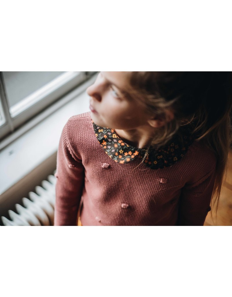 Blossom Kids Knitted Jumper - Dots - Rose