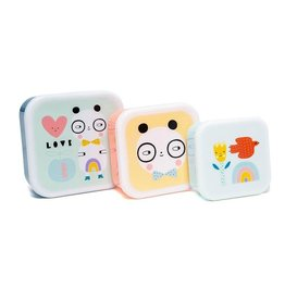 Petit Monkey Lunchbox set panda love