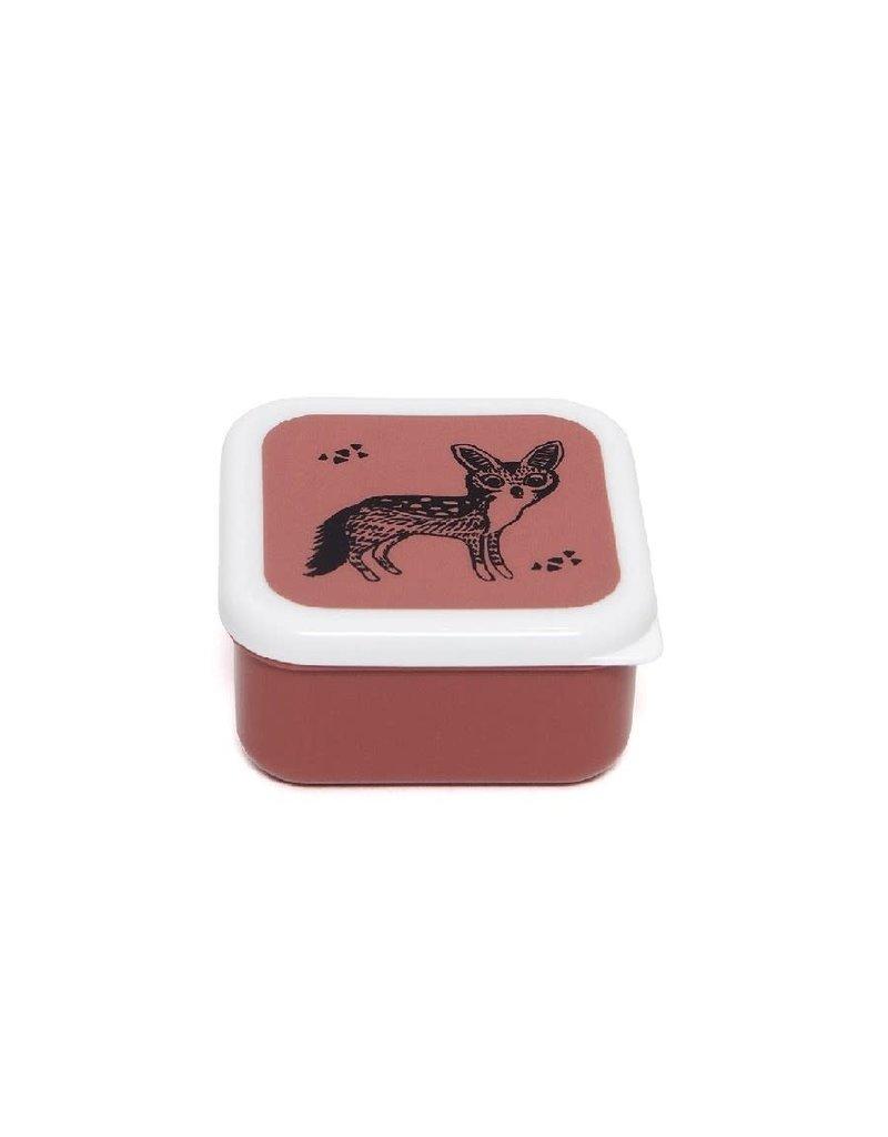 Petit Monkey Lunchbox set black animals