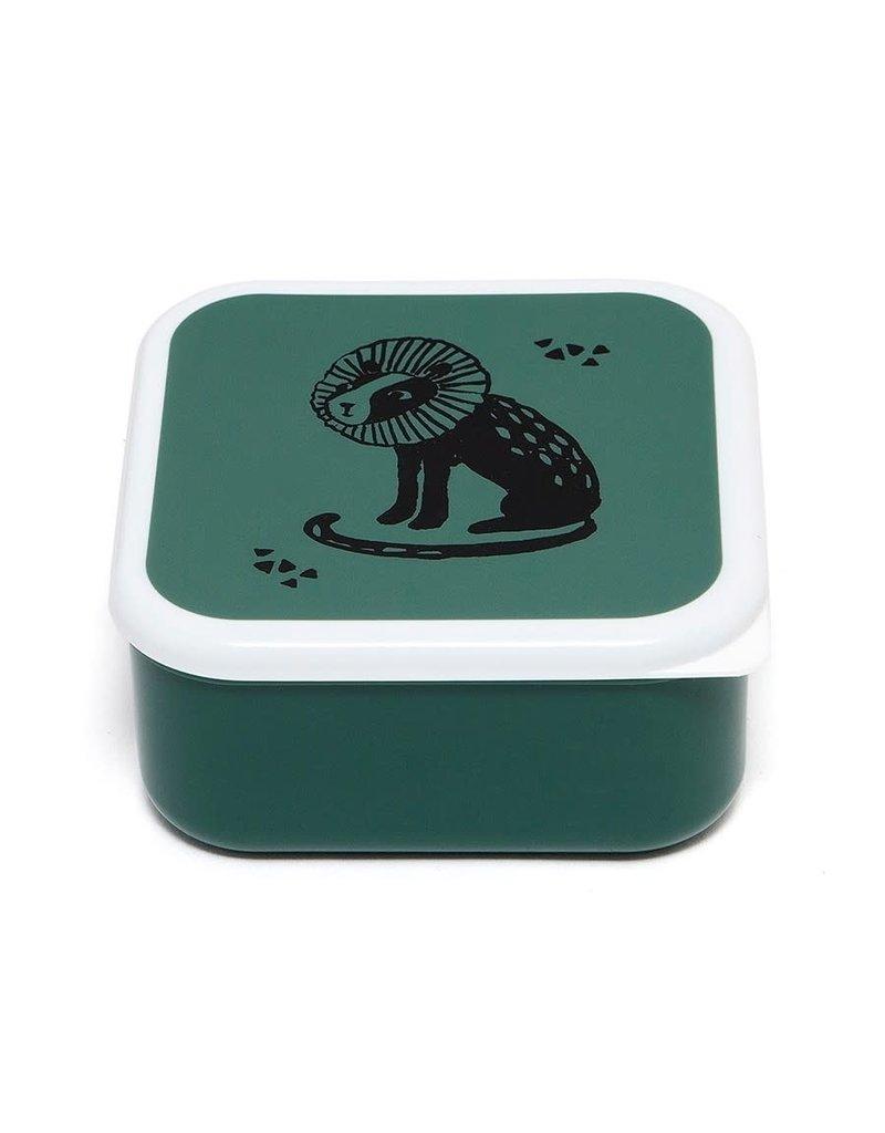 Petit Monkey Lunchbox set black animals salie