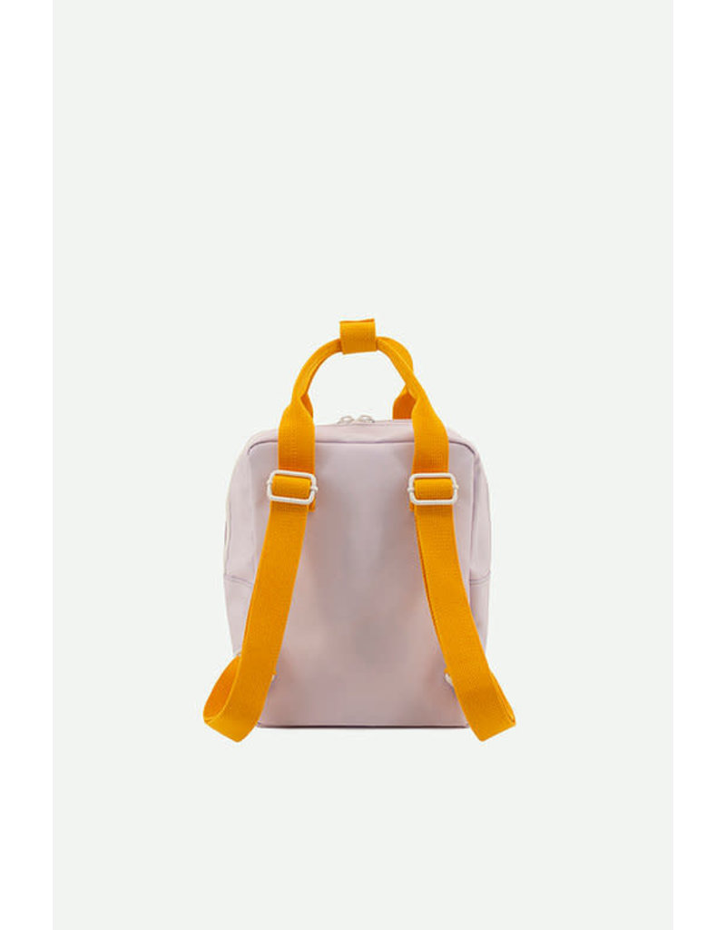 Sticky Lemon Backpack small gingham  chocolate sundae + daisy yellow + mauve lilac