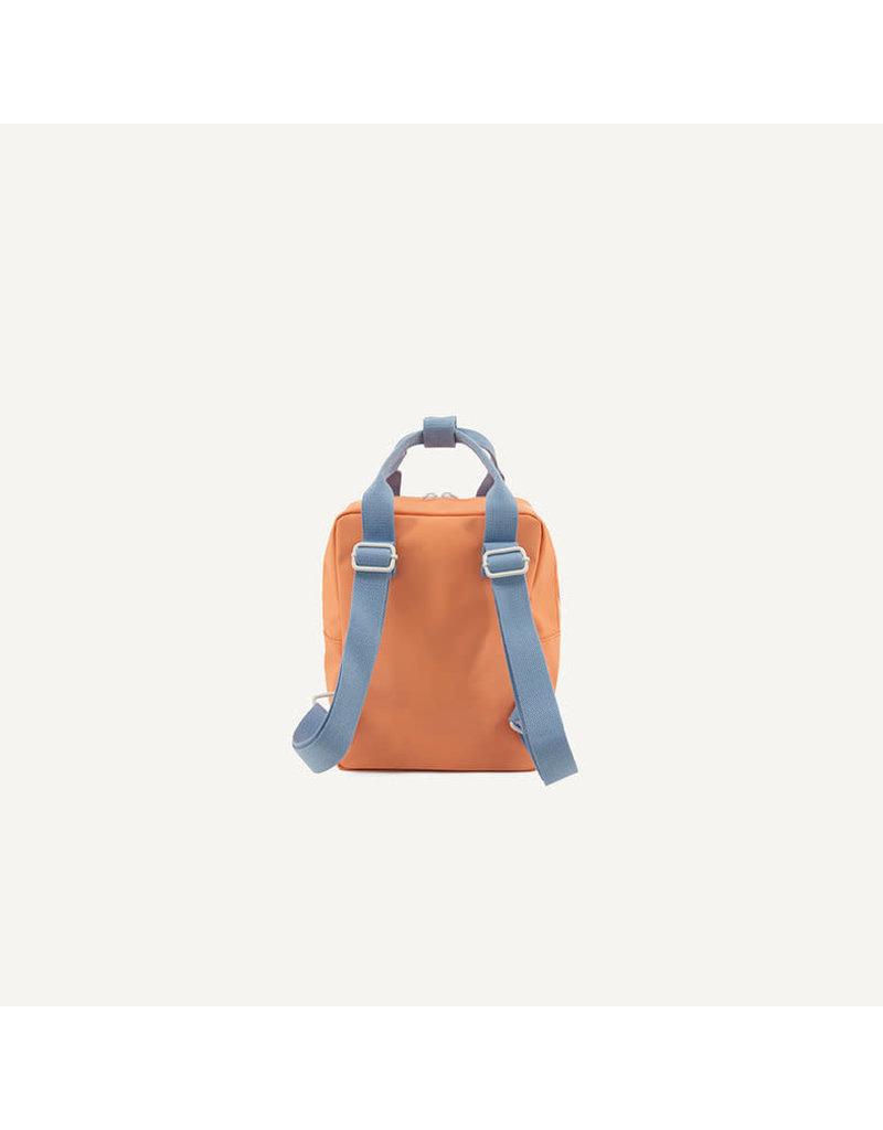 Sticky Lemon Backpack small gingham cherry red + sunny blue + berry swirl