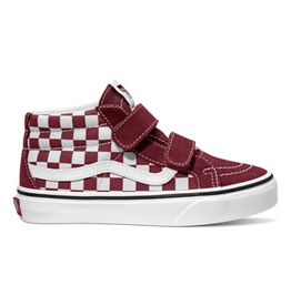 Vans Youth SK8-Mid Reissue Checkerboard Pomegranate