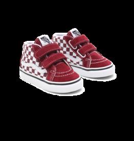 Vans Toddler SK8-Mid Reissue Checkerboard Pomegranate