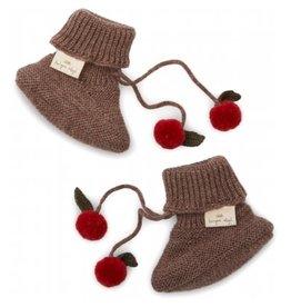 Konges Sløjd Miro Knit Boots Bunny Brown Melange