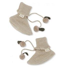 Konges Sløjd Miro Knit Boots White Cream Melange