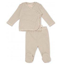 Konges Sløjd Dio Wrap Cardigan & Pants Capers Stripe