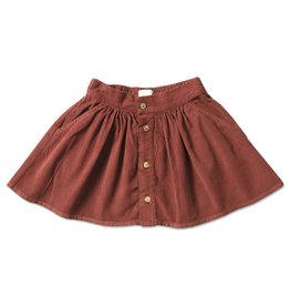 Petit Blush Mini Button Skirt Burnt Henna