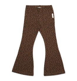 Petit Blush Bowie Flared Pants Brown Leopard