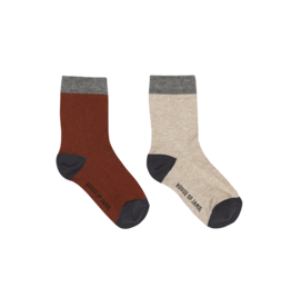 House of Jamie Ankle Socks Multi Color Block