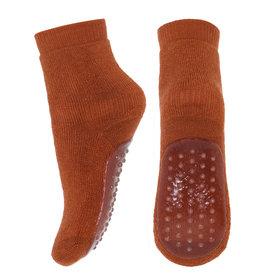 mp Denmark Wool/cotton socks w.anti slip Sienna