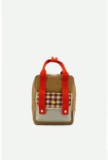 Sticky Lemon Backpack small | gingham pool green + apple red + leaf green