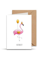 Juulz Illustrations & Design Gevouwen kaart - Feestbeest