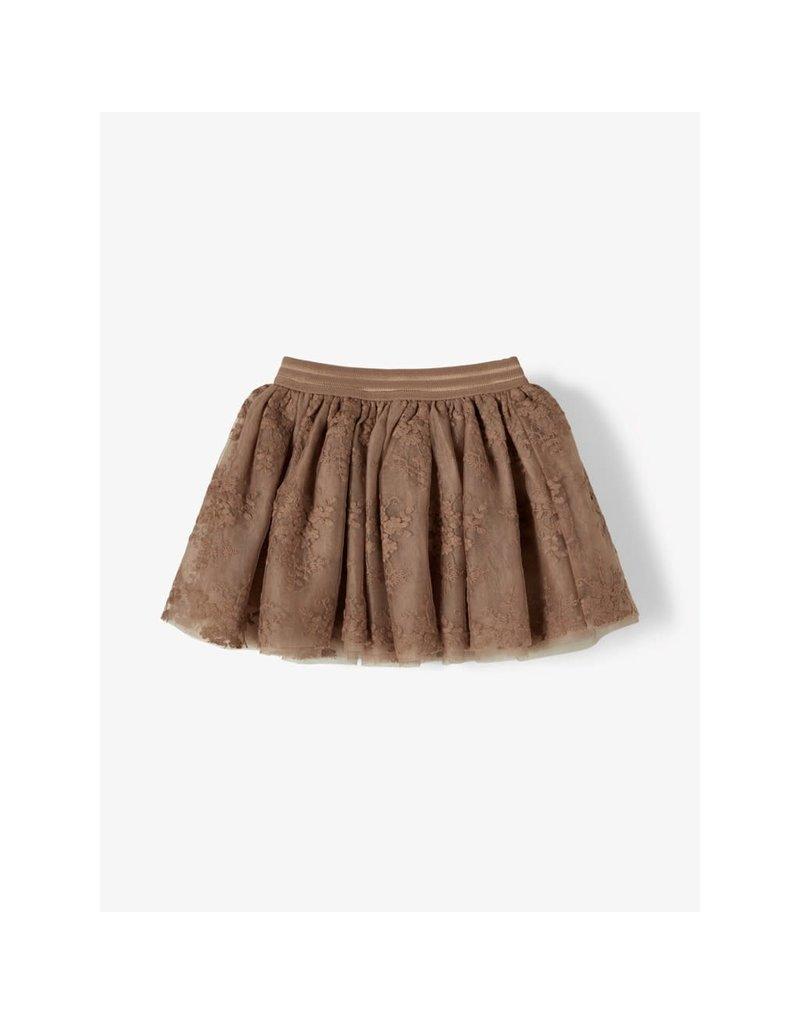 Lil' Atelier Ronja Tulle Skirt Woodsmoke