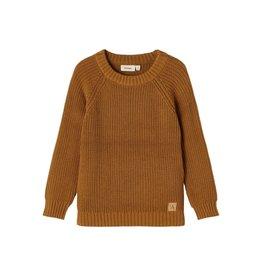 Lil' Atelier Emlen Knit Sweater Golden Brown