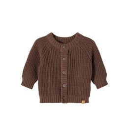 Lil' Atelier Emlen Knit Cardigan Chestnut
