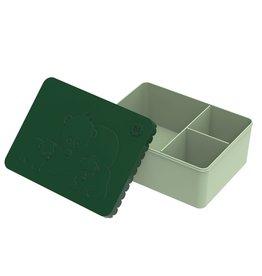 Blafre Lunch box 3 compartimenten bear dark green