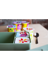 Blafre Lunch box 3 compartimenten flower red+pink