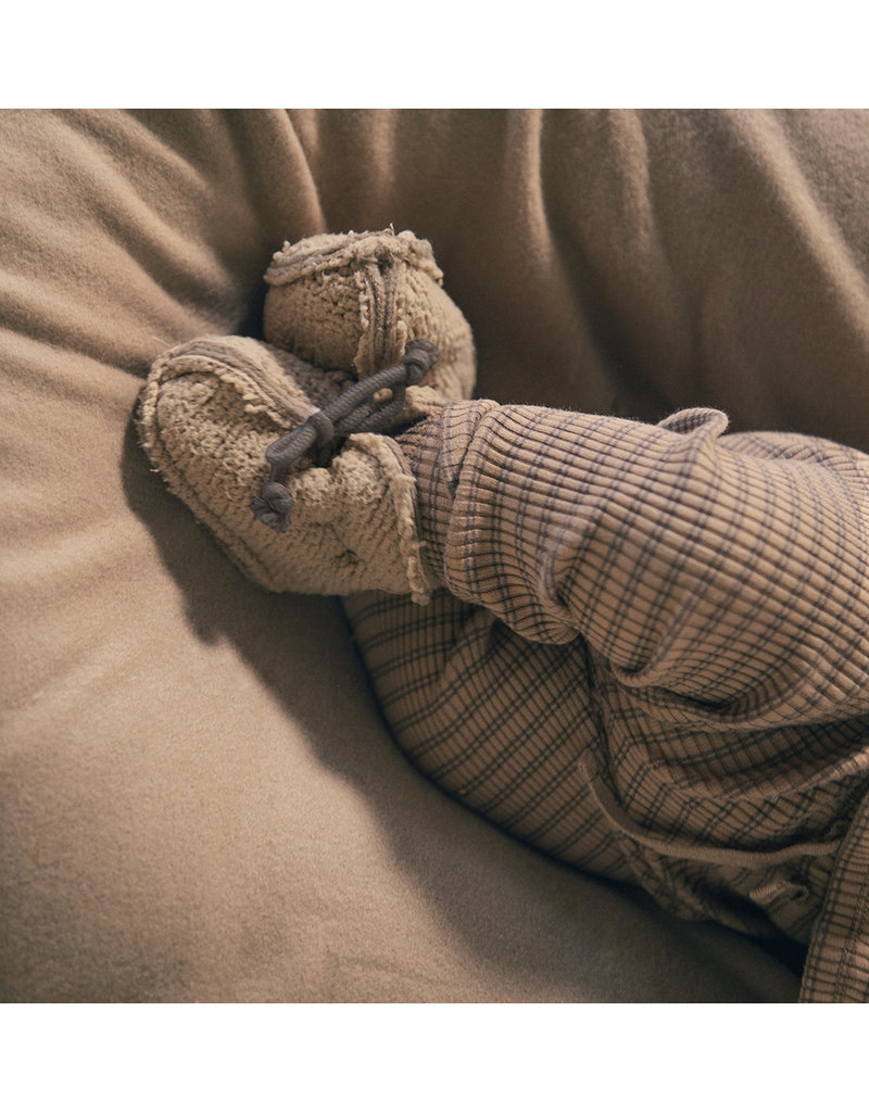 Nixnut Teddy booties Camel