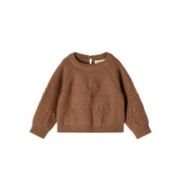 Lil' Atelier Rubina Loose Short Knit Woodsmoke