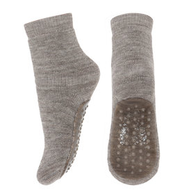mp Denmark Wool Anti Slip Socks Light Brown Melange 202