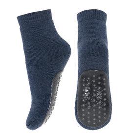 mp Denmark Wool Anti Slip Socks Dark Denim Melange 498