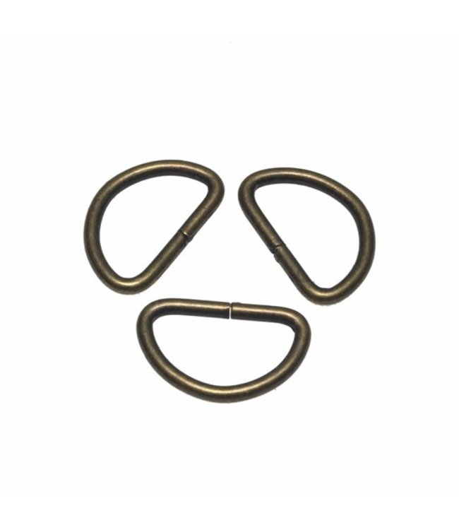 D-ring  Brons 30 mm
