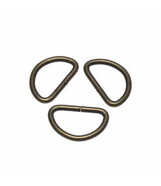 D-ring Brons 25 mm