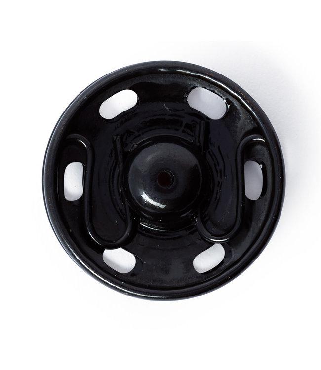 Opnaai drukknopen 30mm zwart