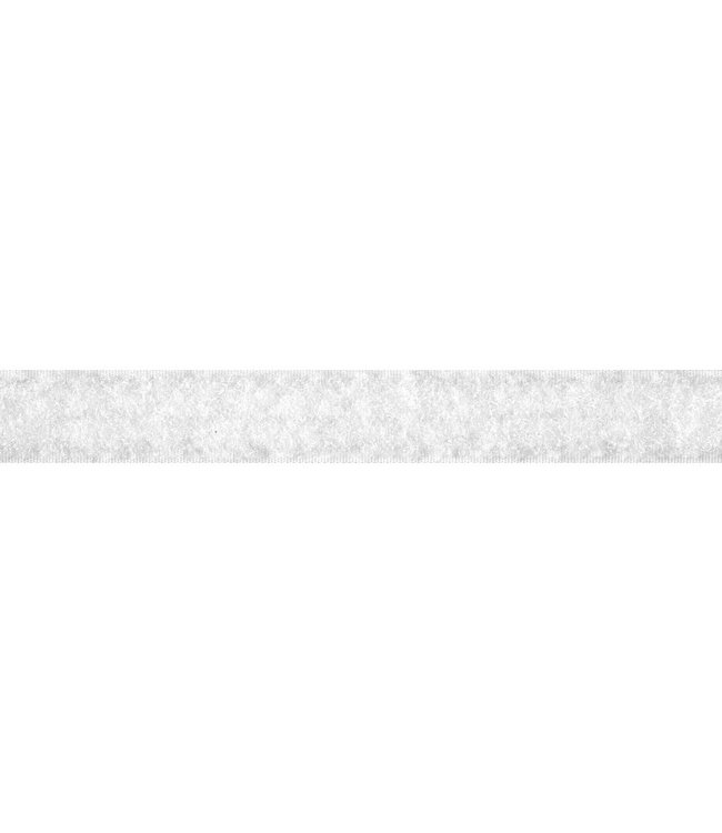 Klittenband 20 mm lus wit