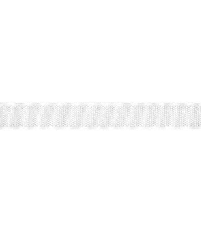 Klittenband 20 mm haak wit